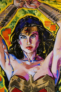 Wonder Woman Painting Art 5k