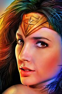 240x400 Wonder Woman Portrait Closeup 5k