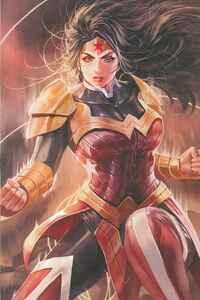 1080x2160 Wonder Woman Print 4k