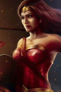 2160x3840 Wonder Woman Ready To Fight