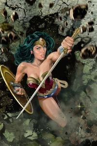 800x1280 Wonder Woman Sharp Sword 4k