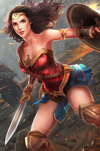 360x640 Wonder Woman Shield Art New