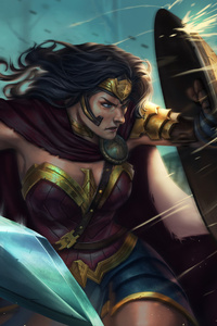 Wonder Woman Shield Art