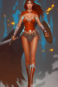 1280x2120 Wonder Woman Sketch