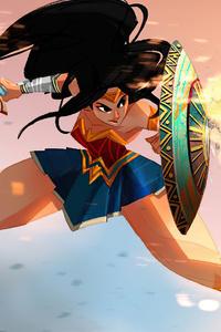 240x400 Wonder Woman Sketchy Art