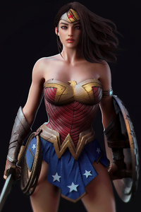 800x1280 Wonder Woman Super Hero 4k