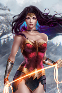750x1334 Wonder Woman Superhero Artwork