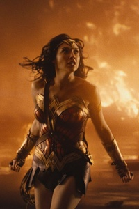 Wonder Woman Surronded By Fire