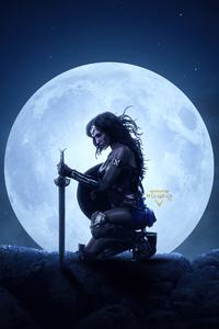 320x568 Wonder Woman The Big Moon