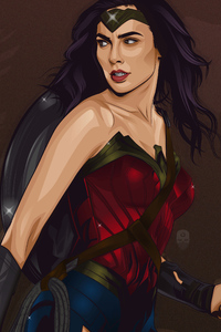1280x2120 Wonder Woman Vector Art
