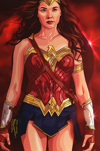 1440x2960 Wonder Woman Walking 4k