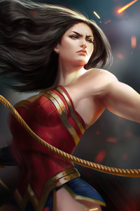 1080x2280 Wonder Woman Warrior 4k 2020
