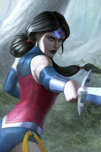 1080x2160 Wonder Woman Warrior Art