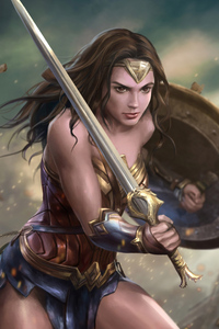 2160x3840 Wonder Woman Warrior Art 4k