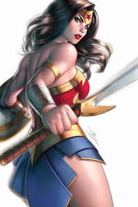 480x800 Wonder Woman White