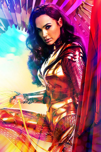 320x568 Wonder Woman Wide Poster 5k