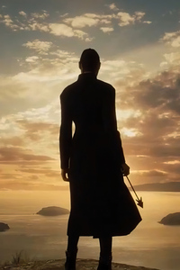 Wonder Woman With Arrow In Hand Silhouette 4k