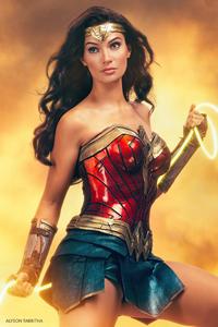 320x480 Wonder Woman With Lasso 4k