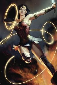 480x854 Wonder Woman With Powers 4k