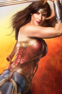 Wonder Woman With Sword Cosplay 4k