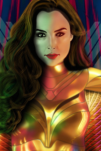 640x960 Wonder Woman1984 Art