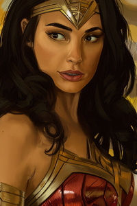 1125x2436 Wonder Woman1984art