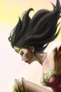 640x960 Wonder Woman4k Art
