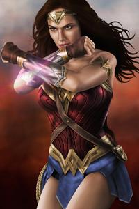 1080x2280 Wonder Woman4k Art 2019