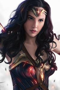 1440x2560 Wonder Woman4k Gal Gadot Art
