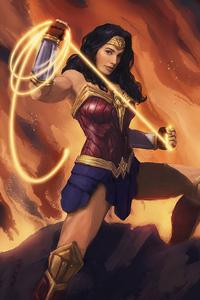 320x568 Wonder Woman4k Sketch Art