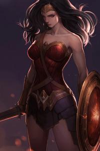 320x480 Wonder Woman4kart