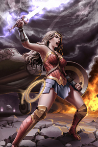 1080x2160 Wonder Womannewart