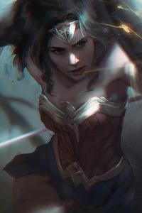320x568 Wonder Womanshield 4k