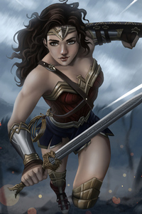 1080x2160 Wonderwoman4kart