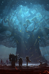 1125x2436 World Of Warcraft Battle For Azeroth 12k