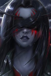 1242x2688 World Of Warcraft Night Elf 4k