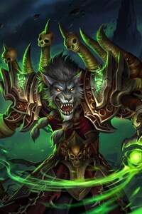 World of Warcraft Worgen Warlock