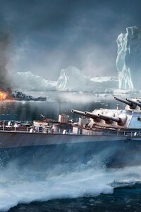 240x320 World Of Warships Game