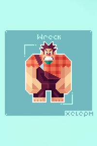 1080x2280 Wreck It Ralph Pixel Art 5k