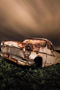 Wrecked Vintage Car