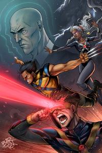 X Men Cyclops Wolverine Comic Artwork