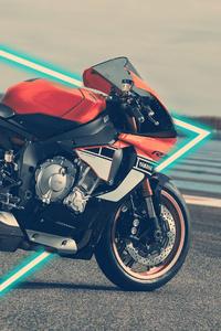 640x960 Yamaha R1 Akrapovic Exhaust 4k
