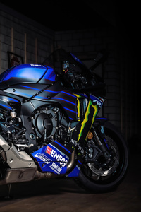 1440x2960 Yamaha R1 Valentino Rossi 5k