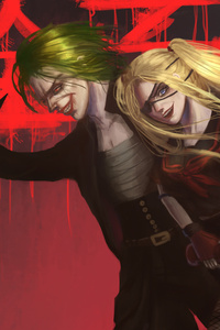 1440x2560 Yanki Joker And Harley Quinn