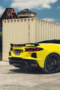 Yellow And Black Corvette C8 Vossen 8k