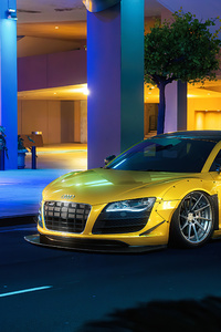 1080x2280 Yellow Audi R8 Car