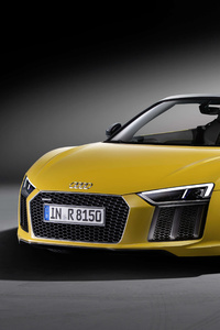 1080x2280 Yellow Audi R8 V10 Plus