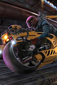Yellow Cyberpunk Artwork