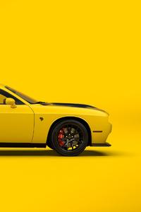 Yellow Dodge Challenger SRT