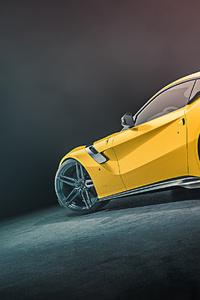 Yellow Ferrari Rear